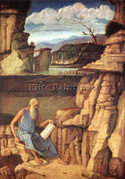 GIOVANNI BELLINI ST JEROME READING ARTIST PAINTING REPRODUCTION HANDMADE OIL ART