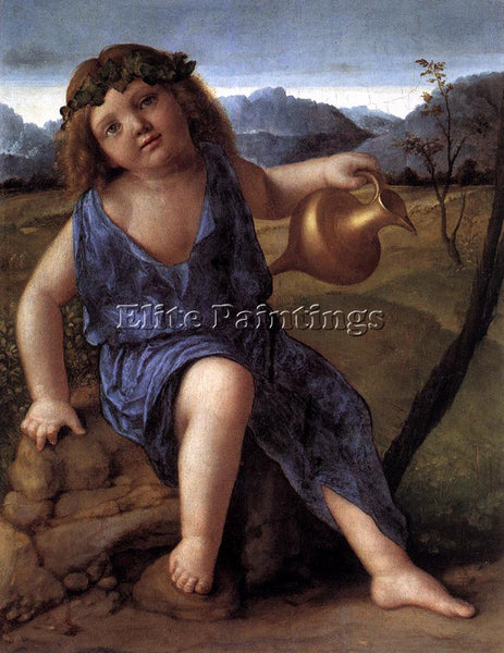 GIOVANNI BELLINI YOUNG BACCHUS ARTIST PAINTING REPRODUCTION HANDMADE OIL CANVAS