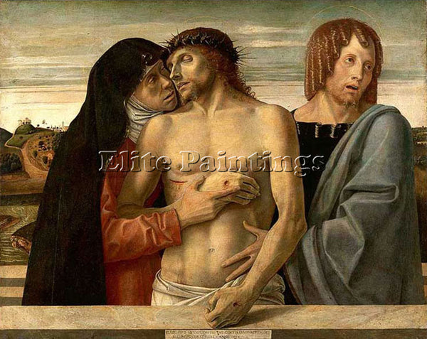 GIOVANNI BELLINI PIETA ARTIST PAINTING REPRODUCTION HANDMADE CANVAS REPRO WALL