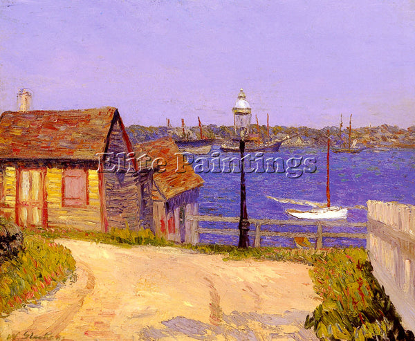WILLIAM GLACKENS J NEW CASTLE NEW HAMPSHIRE ARTIST PAINTING HANDMADE OIL CANVAS