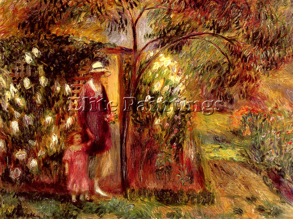 WILLIAM GLACKENS J TWO IN A GARDEN ARTIST PAINTING REPRODUCTION HANDMADE OIL ART