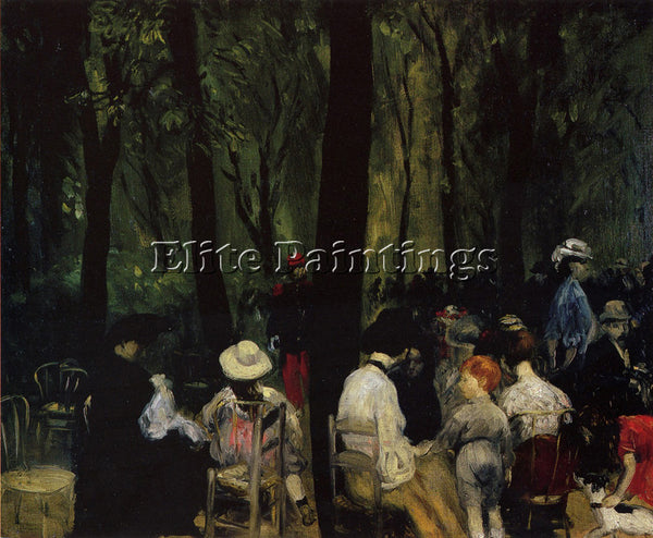 WILLIAM GLACKENS UNDER THE TREES ARTIST PAINTING REPRODUCTION HANDMADE OIL REPRO