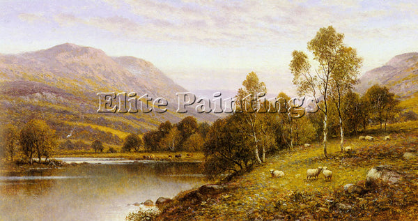 ALFRED GLENDENING AUGUSTUS EARLY EVENING CUMBRIA ARTIST PAINTING HANDMADE CANVAS