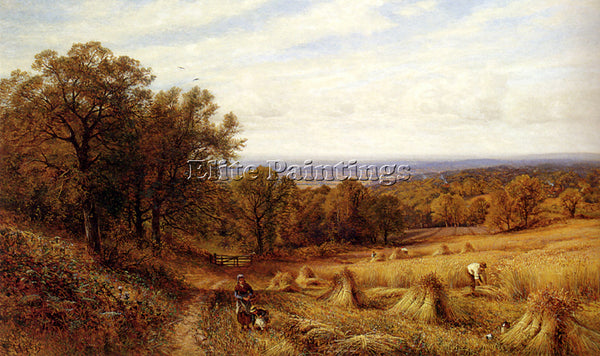 ALFRED GLENDENING AUGUSTUS HARVEST TIME ARTIST PAINTING REPRODUCTION HANDMADE