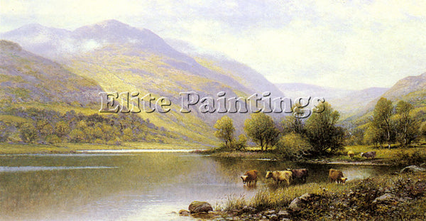 ALFRED GLENDENING AUGUSTUS NEAR CAPEL CURIG NORTH WALES ARTIST PAINTING HANDMADE