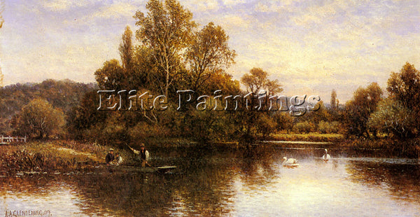 ALFRED GLENDENING AUGUSTUS THE FERRY ARTIST PAINTING REPRODUCTION HANDMADE OIL