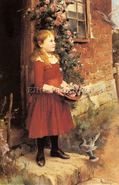 ALFRED GLENDENING AUGUSTUS YOUNGEST DAUGHTER J S GABRIEL ARTIST PAINTING CANVAS