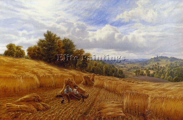 ALFRED GLENDENING AUGUSTUS RESTING FROM THE HARVEST ARTIST PAINTING REPRODUCTION