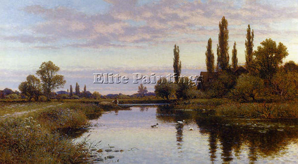 ALFRED GLENDENING AUGUSTUS THE REED CUTTER ARTIST PAINTING REPRODUCTION HANDMADE