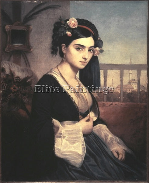 CHARLES GLEYRE ORIENTAL LADY ARTIST PAINTING REPRODUCTION HANDMADE CANVAS REPRO