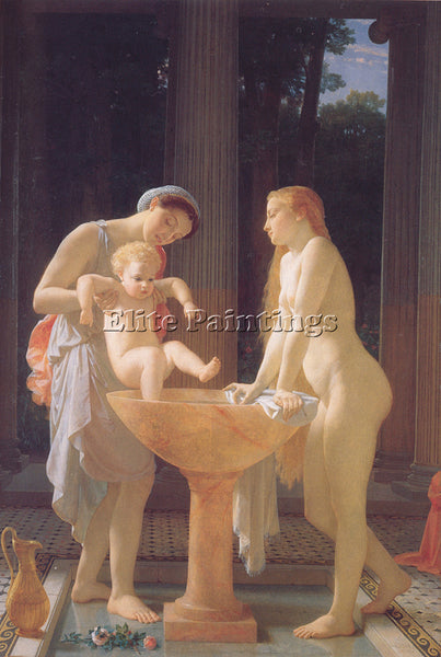 CHARLES GLEYRE GLEYRE THE BATH ARTIST PAINTING REPRODUCTION HANDMADE OIL CANVAS