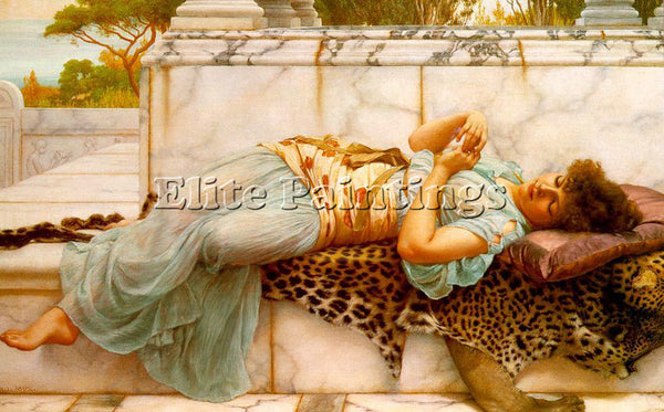 BRITISH GODWARD JOHN WILLIAM ENGLISH 1861 1922 ARTIST PAINTING REPRODUCTION OIL