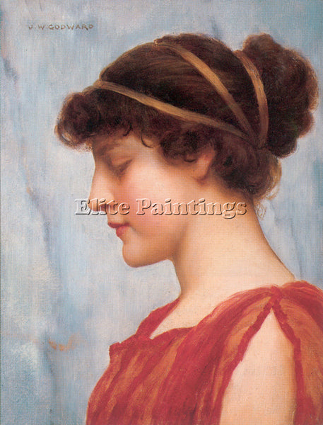 JOHN WILLIAM GODWARD OPHELIA 1 ARTIST PAINTING REPRODUCTION HANDMADE OIL CANVAS