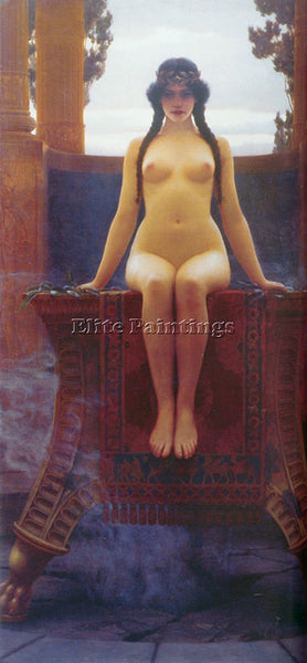 JOHN WILLIAM GODWARD THE DELPHIC ORACLE 2 ARTIST PAINTING REPRODUCTION HANDMADE