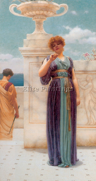 JOHN WILLIAM GODWARD THE ENGAGEMENT RING C1891 ARTIST PAINTING REPRODUCTION OIL