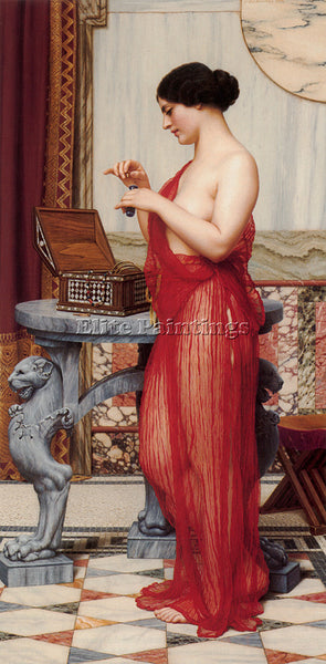 JOHN WILLIAM GODWARD NEW PERFUME ARTIST PAINTING REPRODUCTION HANDMADE OIL REPRO