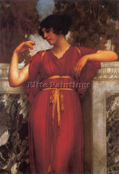 JOHN WILLIAM GODWARD THE RING 1898 ARTIST PAINTING REPRODUCTION HANDMADE OIL ART