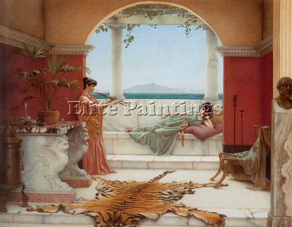 JOHN WILLIAM GODWARD SWEET SIESTA OF A SUMMER DAY ARTIST PAINTING REPRODUCTION