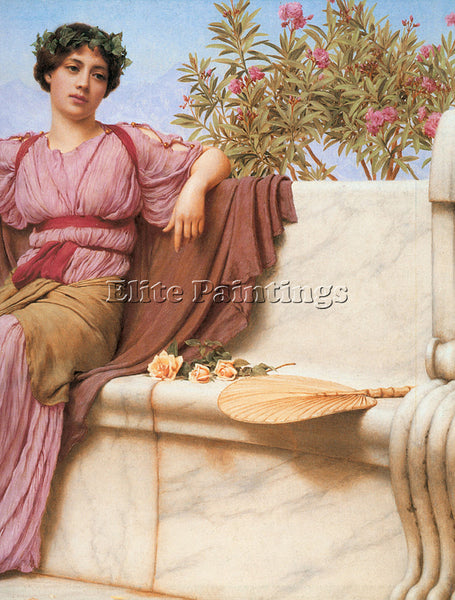 JOHN WILLIAM GODWARD TRANQUILLITY 1914 RIGHT ARTIST PAINTING HANDMADE OIL CANVAS