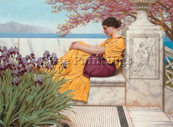 JOHN GODWARD UNDER THE BLOSSOM THAT HANGS ON THE BOUGH ARTIST PAINTING HANDMADE