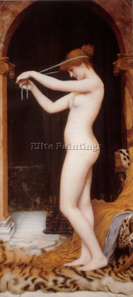 JOHN WILLIAM GODWARD VENUS BINDING HER HAIR 1 ARTIST PAINTING REPRODUCTION OIL