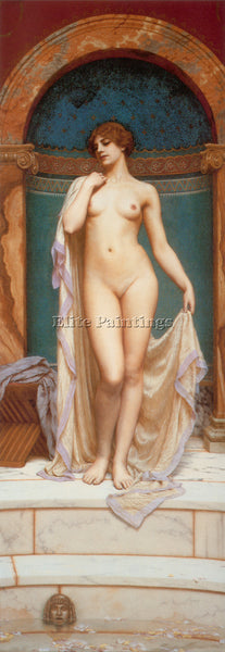 JOHN WILLIAM GODWARD VENUS AT THE BATH 1 ARTIST PAINTING REPRODUCTION HANDMADE