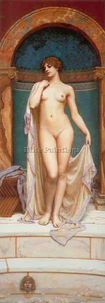 JOHN WILLIAM GODWARD VENUS AT THE BATH 2 ARTIST PAINTING REPRODUCTION HANDMADE