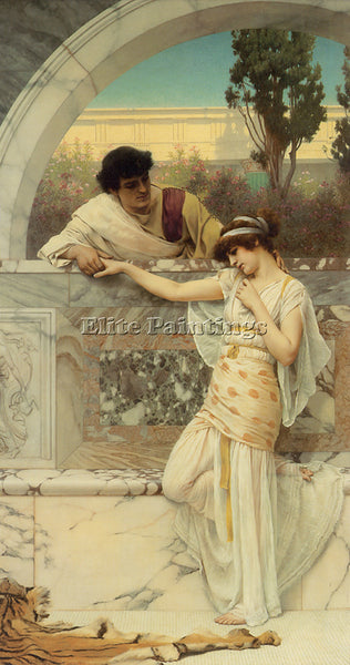 JOHN WILLIAM GODWARD YES OR NO 1 ARTIST PAINTING REPRODUCTION HANDMADE OIL REPRO