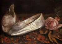 FRENCH GONZALES EVA WHITE SHOES ARTIST PAINTING REPRODUCTION HANDMADE OIL CANVAS
