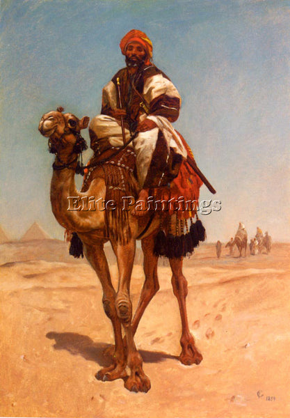 FREDERICK GOODALL AN EGYPTIAN NOMAD ARTIST PAINTING REPRODUCTION HANDMADE OIL