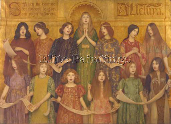 THOMAS COOPER GOTCH ALLELUIA C1896 ARTIST PAINTING REPRODUCTION HANDMADE OIL ART