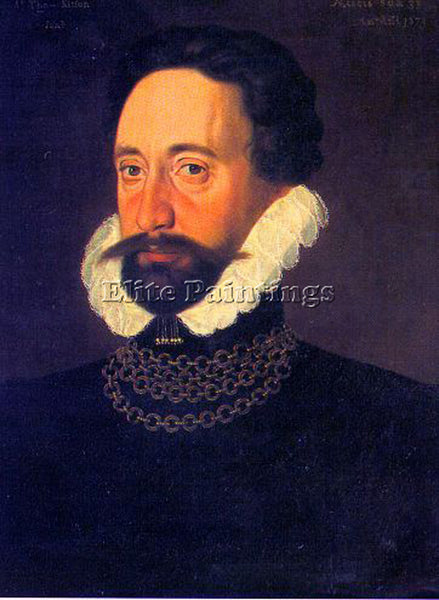 BRITISH GOWER GEORGE ENGLISH 1540 1596 ARTIST PAINTING REPRODUCTION HANDMADE OIL