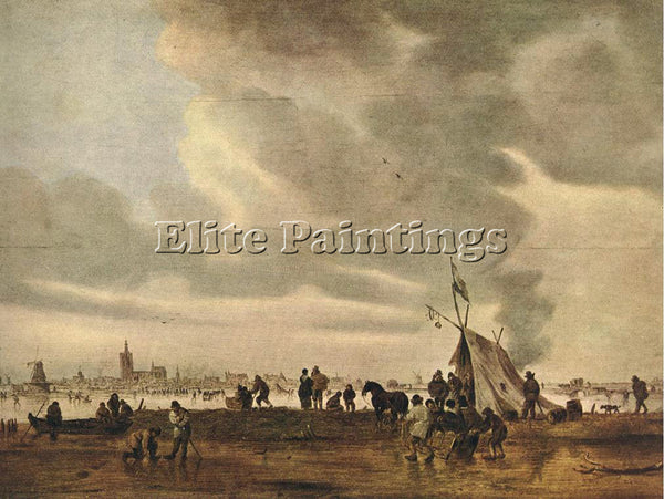 JAN VAN GOYEN VIEW OF THE HAGUE IN WINTER ARTIST PAINTING REPRODUCTION HANDMADE