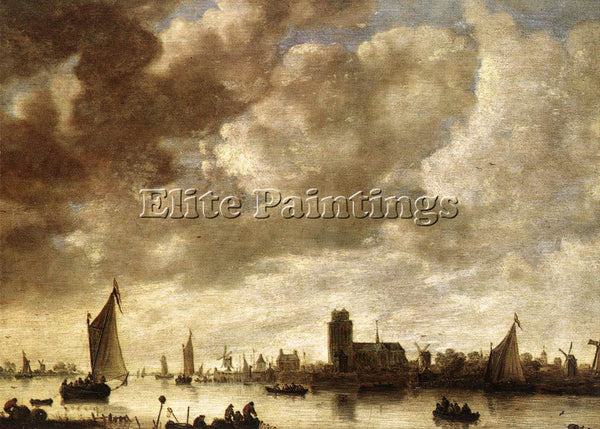 JAN VAN GOYEN VIEW OF THE MERWEDE BEFORE DORDRECHT ARTIST PAINTING REPRODUCTION