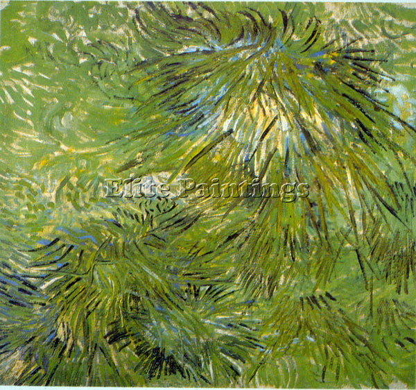 VAN GOGH GRASS ARTIST PAINTING REPRODUCTION HANDMADE OIL CANVAS REPRO WALL  DECO