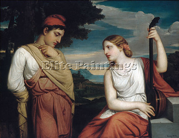 AMERICAN GRAY HENRY PETERS THE GREEK LOVERS ARTIST PAINTING HANDMADE OIL CANVAS