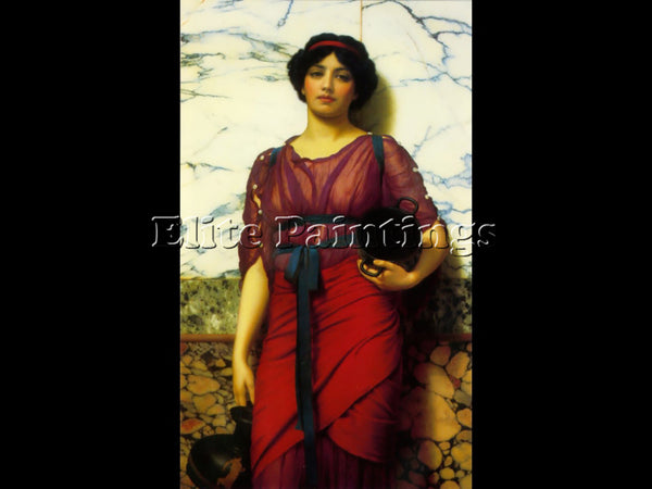 JOHN WILLIAM GODWARD GRECIAN IDYLL 1907 ARTIST PAINTING REPRODUCTION HANDMADE