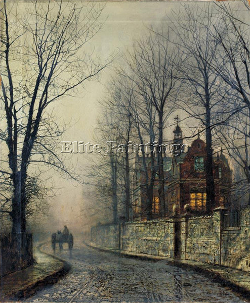 JOHN ATKINSON GRIMSHAW NOVEMBER MOONLIGHT ARTIST PAINTING REPRODUCTION HANDMADE