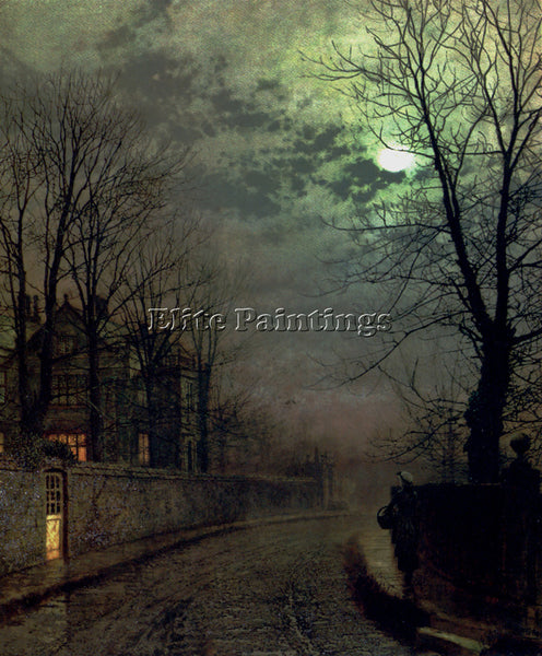 JOHN ATKINSON GRIMSHAW A LANE IN HEADINGLEY LEEDS ARTIST PAINTING REPRODUCTION