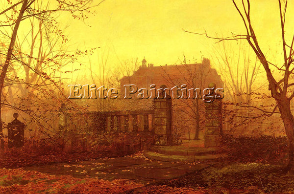 JOHN ATKINSON GRIMSHAW AUTUMN MORNING ARTIST PAINTING REPRODUCTION HANDMADE OIL
