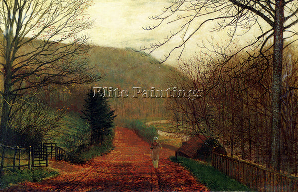 JOHN ATKINSON GRIMSHAW FORGE VALLEY SCARBOROUGH ARTIST PAINTING REPRODUCTION OIL