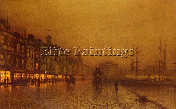 JOHN ATKINSON GRIMSHAW GREENOCK DOCK ARTIST PAINTING REPRODUCTION HANDMADE OIL