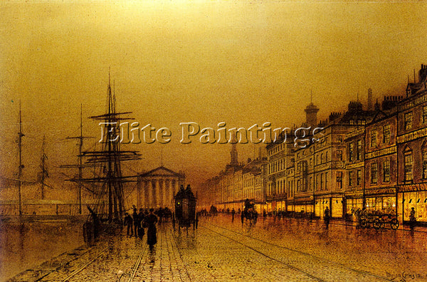 JOHN ATKINSON GRIMSHAW GREENOCK ARTIST PAINTING REPRODUCTION HANDMADE OIL CANVAS