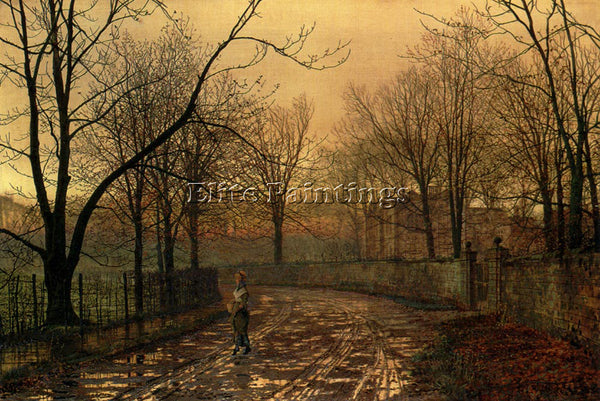 JOHN ATKINSON GRIMSHAW SIXTY YEARS AGO ARTIST PAINTING REPRODUCTION HANDMADE OIL