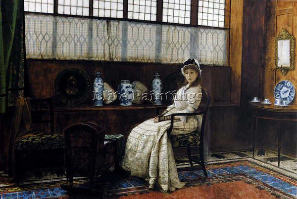 JOHN ATKINSON GRIMSHAW THE CRADLE SONG ARTIST PAINTING REPRODUCTION HANDMADE OIL