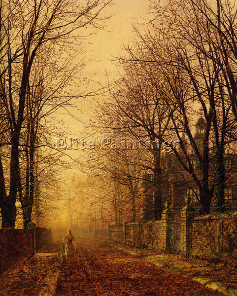 JOHN ATKINSON GRIMSHAW  GRIMSHAW A GOLDEN BEAM ARTIST PAINTING REPRODUCTION OIL
