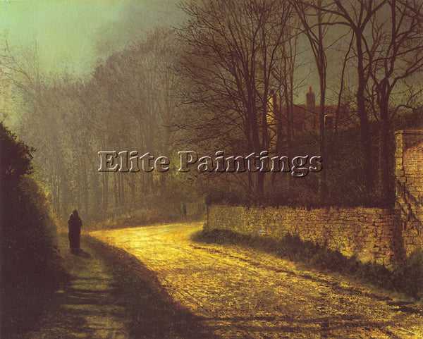 JOHN ATKINSON GRIMSHAW GRIMSHAW THE LOVERS ARTIST PAINTING REPRODUCTION HANDMADE