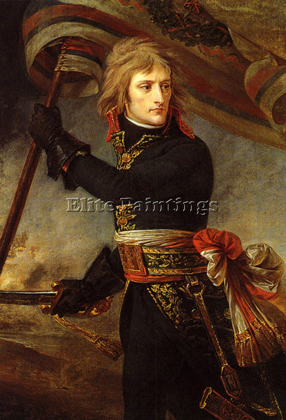 ANTOINE-JEAN GROS BONAPARTE ON THE BRIDGE AT ARCOLE ARTIST PAINTING REPRODUCTION