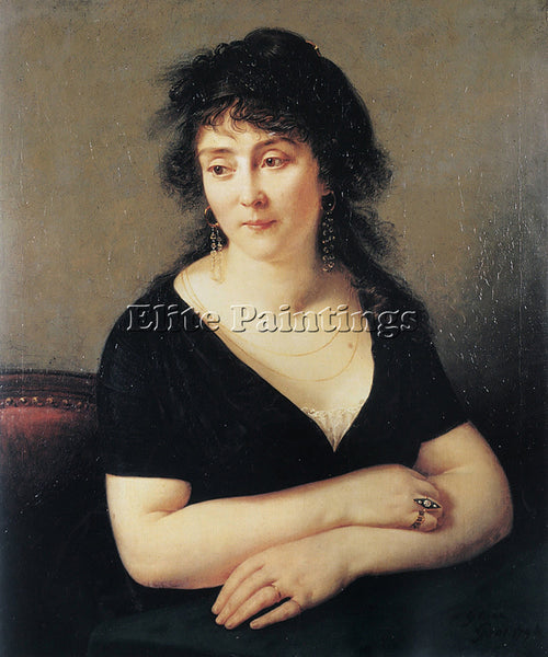 ANTOINE-JEAN GROS PORTRAIT OF MADAME BRUYERE ARTIST PAINTING HANDMADE OIL CANVAS
