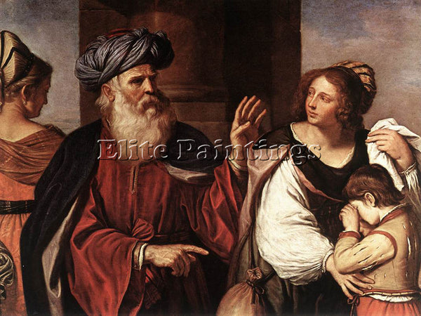 GUERCINO  ABRAHAM CASTING OUT HAGAR AND ISHMAEL ARTIST PAINTING REPRODUCTION OIL